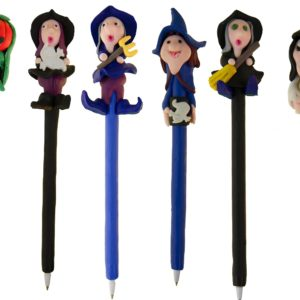 halloween witches wizards pens hand made